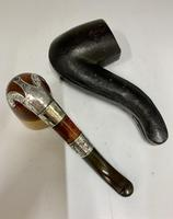 Antique Silver Mounted Smokers Pipe c.1910 (5 of 5)