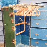 Antique Travel/ Steamer Trunk Wardrobe (13 of 16)