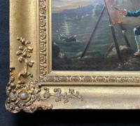 Late 18th Century 'British School' Original Oil Portrait Painting of a Shoreline Artist (10 of 12)