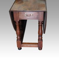 Large Antique Oak Gateleg Dining Table (5 of 13)
