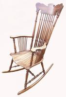 Lovely Quality 19th Century Mahogany Rocking Chair (3 of 4)