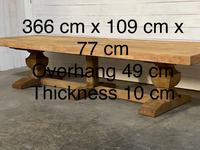Enormous French Bleached Oak Farmhouse Dining Table (38 of 38)