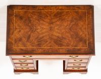 Georgian Style Walnut Kneehole Desk (9 of 10)