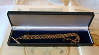 Antique Pocket Watch Chain 1890s Victorian Large 10ct Rose Rolled Gold Albert With T Bar (12 of 12)