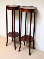 Pair of Edwardian Mahogany Jardinière Stands (4 of 10)