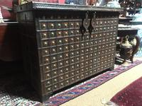 Antique lron Bound Eastern Coffer
