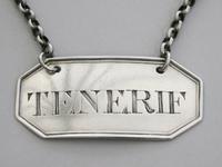 Rare George III Irish Silver Wine Label 'tenerif', by John Teare, Dublin, C1800 (5 of 8)