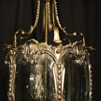 French Pair of Silver Gilded Bronze Lanterns (5 of 8)