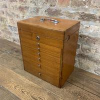 Mahogany Dentist Cabinet with Chrome Handle (9 of 9)