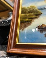 Antique Reverse Glass Painting (2 of 3)