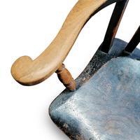 Antique Elm Lath Back Armchair (2 of 9)