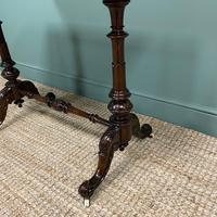 Magnificent Victorian Figured Walnut Antique Centre Table (3 of 7)