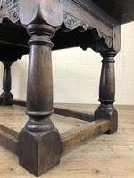 Antique Oak Refectory Table with Plank Top (4 of 12)