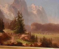 Swiss Alpine scene oil painting (4 of 8)
