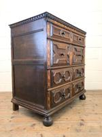 Antique Geometric Oak Chest of Drawers (7 of 10)