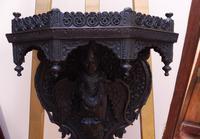 Burmese Carved Wall Bracket Hardwood 1860 (free Shipping to Mainland England) (4 of 12)
