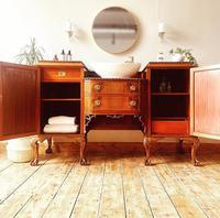 French Antique Style Washstand / Vanity / Cupboard With Basin Sink (3 of 8)