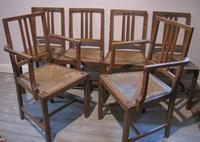 Set of 6 Heals Oak Dining Chairs c.1930 (4 of 9)