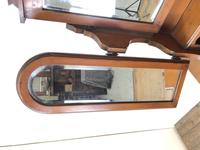 Antique Satin Walnut Dressing Table with Mirrors (5 of 10)