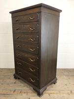 Early 20th Century Antique Oak Narrow Chest of Drawers (6 of 11)