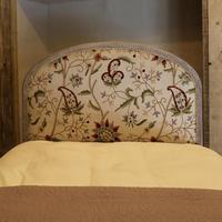 Upholstered Antique Bed with Painted Frame (3 of 8)