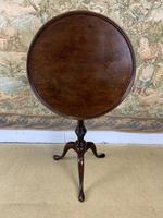 Small Georgian Mahogany Tilt Top Lamp Table (5 of 6)