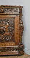 Antique Carved Oak Green Man Corner Cabinet (3 of 7)