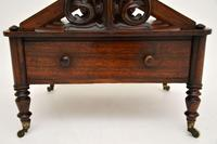 Antique Regency Rosewood Canterbury Magazine Stand (11 of 12)