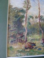 "Ascribed To / Circle of Camille Pissarro ,Watercolour ""Rural Scene in Eragny ""? (7 of 8)"