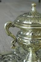 Fine Quality Brass 'Marine' Influenced Inkwell by William Tonks & Sons Registered Diamond Mark for 19th January 1881 (6 of 7)