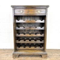 Early 20th Century Antique Oak Wine Rack (2 of 9)