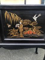 Antique Chinoiserie Lacquered Display Cabinet (2 of 9)
