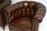 Pair of Antique Swedish Leather Chesterfield Armchairs (5 of 12)