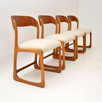Set of 4 Danish Teak Vintage Dining Chairs 1960's (3 of 12)