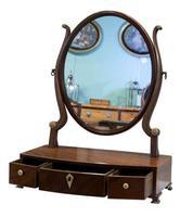 Georgian Oval Mahogany Dressing Table Mirror (2 of 8)