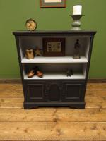 Black Painted Bookcase Cabinet with small cupboard, Gothic Shabby Chic (10 of 18)
