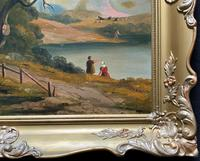 Large Stunning 19thc Arcadian Landscape Oil Painting in the 18th Century manner (11 of 13)