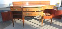 1920s Mahogany Bow Front Sideboard with Inlay by Waring & Gillow (2 of 5)