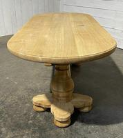 French Bleached Oak Monastery Dining Table (17 of 30)