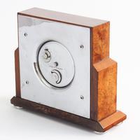 Smiths Art Deco Burr Walnut Cased 8-Day Mantle Clock c1935 (7 of 9)