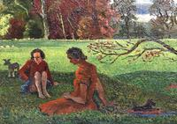 Original oil on canvas 'A summers day 1950' by Hugh Griffiths. b.1916 (3 of 4)