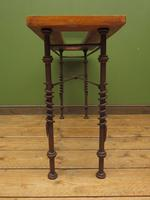 Wrought Iron & Wood Console Table with Glass Insert (10 of 14)