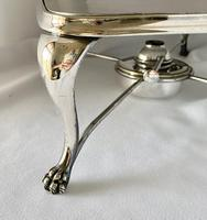 Edwardian Walker & Hall Silver Plated Hot Plate (3 of 10)