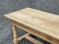 Large Bleached Oak Farmhouse Dining Table with Extensions & Storage (29 of 35)