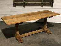 French Bleached Oak Farmhouse Dining Table (9 of 10)