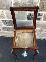 Antique Rosewood & Brass Bijouterie Display Table (9 of 10)
