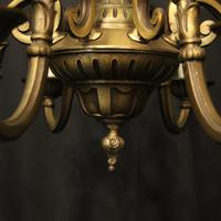 French Gilded Brass 12 Light Tiered Chandelier Oka04098 (9 of 10)