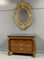 French Empire Commode Chest of Drawers with Marble Top (6 of 7)
