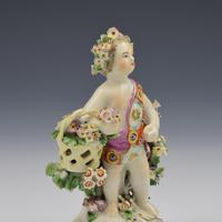 Derby Porcelain Figure Putto On Scrolled Base c.1765 (9 of 11)
