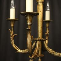 French Gilded Bronze 4 Light Antique Chandelier (2 of 10)